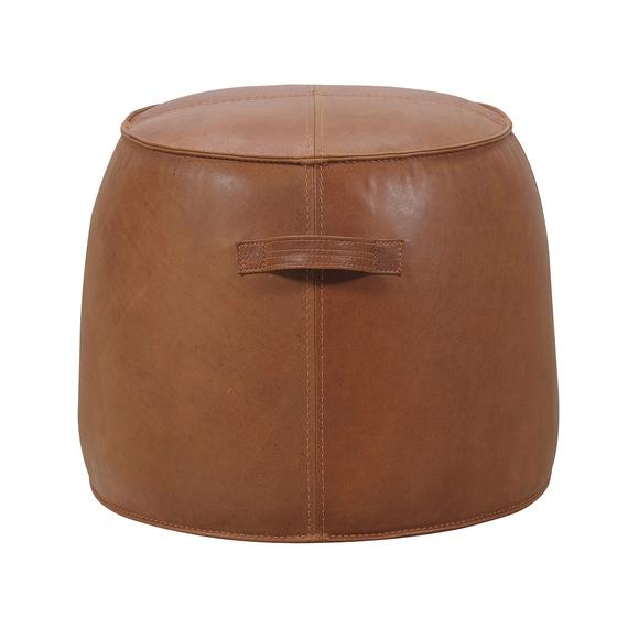 TUCKER Leather Ottoman