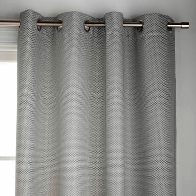 CROSSHATCH Lined Curtain