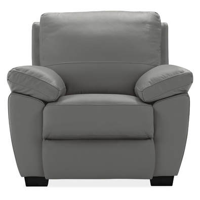 LUCAS R Leather Electric Recliner Armchair