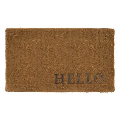 HELLO Copper Finish Doormat