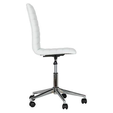 LOAM Gas-Lift PU Office Chair, Black