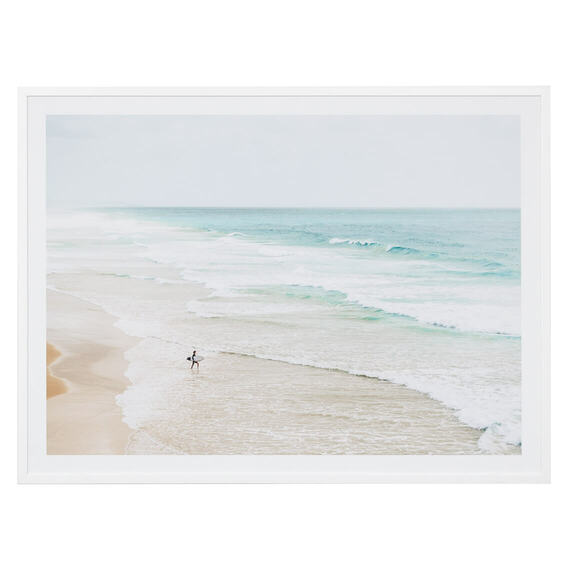 SURFERS VIEW Framed Print