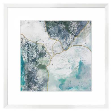 SEA LACE Framed Print