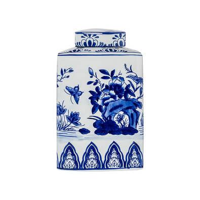 GINGER Triangle Large Jar Blue