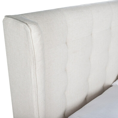 KNAP Tufted Wing Bed with Side Drawers