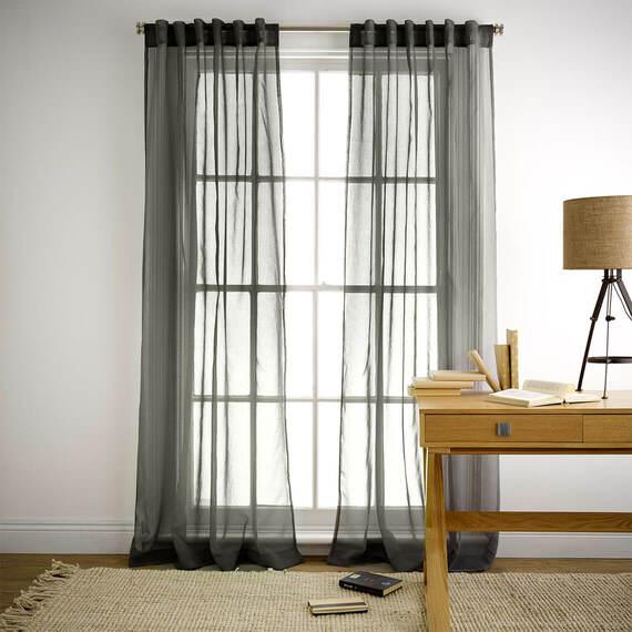 MINERAL Sheer Tab Top Curtain