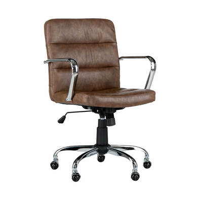 ASTORIA Office Chair Adjustable Height PU Tan