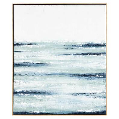 BLUE OCEAN Framed Canvas