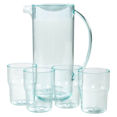 BOLINAS Pitcher with 4 Tumblers