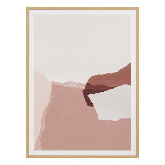 PLUTO BLUSH Framed Print