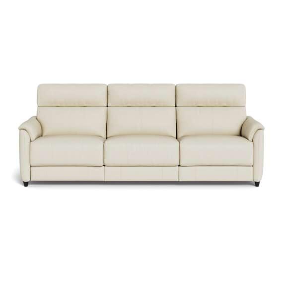 DEXTER Leather Battery Recliner Sofa