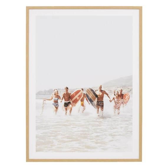 RETRO SURFERS Framed Print