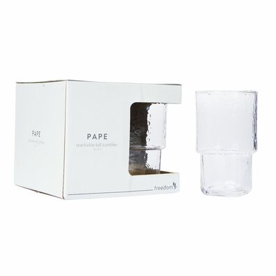 PAPE Stackable Glass Set