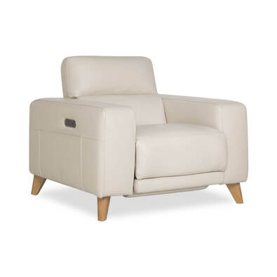 STERLING Leather Electric Recliner Armchair