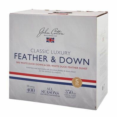 JOHN COTTON CLASSIC Luxury Duck Feather & Down Quilt