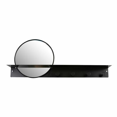 SACHI Wall Mirror With Hooks