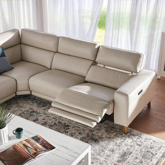 STERLING Leather Battery Recliner Modular Sofa
