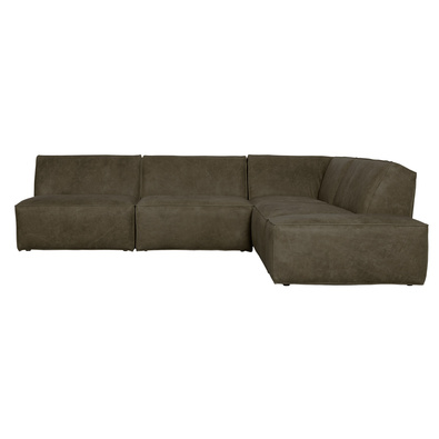 BOULDER Leather Armless Modula Sofa