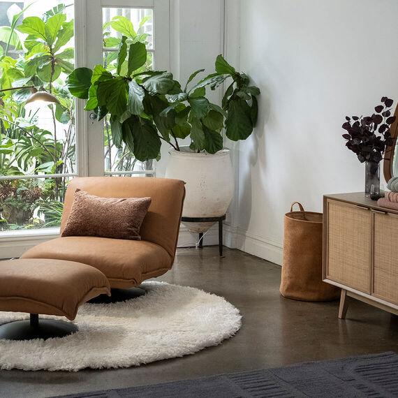 MONTY Leather Swivel Chair