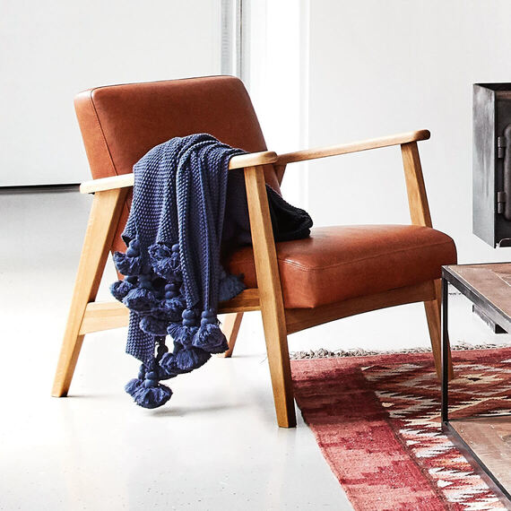 DEN Leather Occasional Armchair